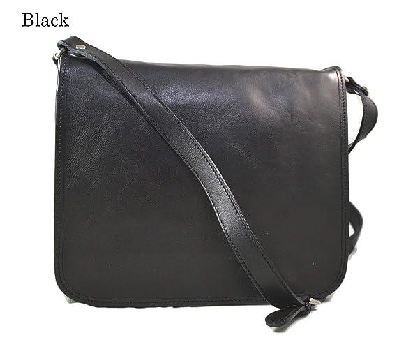 nuova collezione 2f44d 4c6d8 Borsa uomo messenger tracolla postino donna vera pelle nero ...