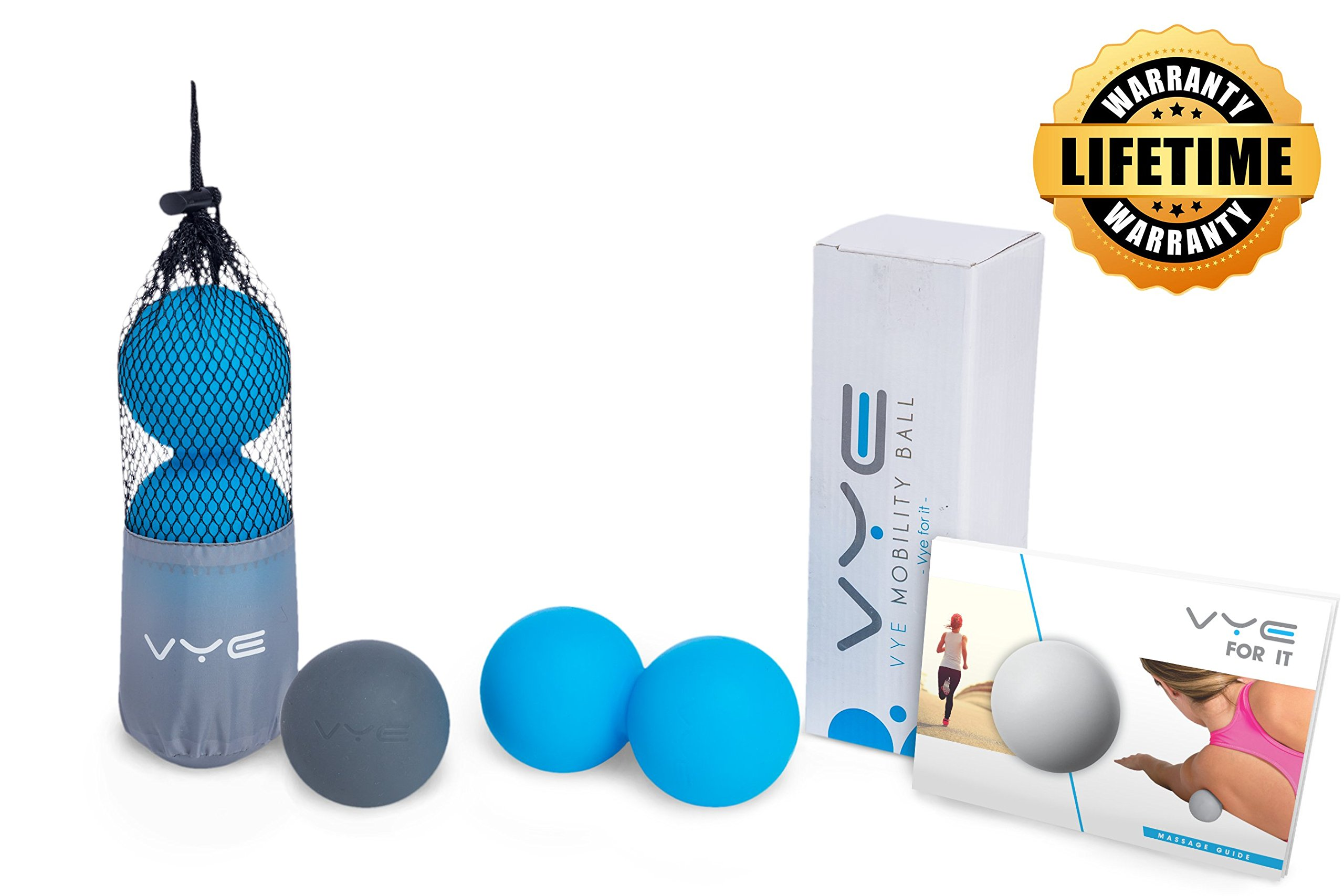 Peanut Mobility Ball & Lacrosse Ball Set for Myofascial Release Therapy | Deep Tissue, Trigger Point, Plantar Fasciitis & Massage | Finally Relieve Pain, Knots & Tightness | FREE E-Book!