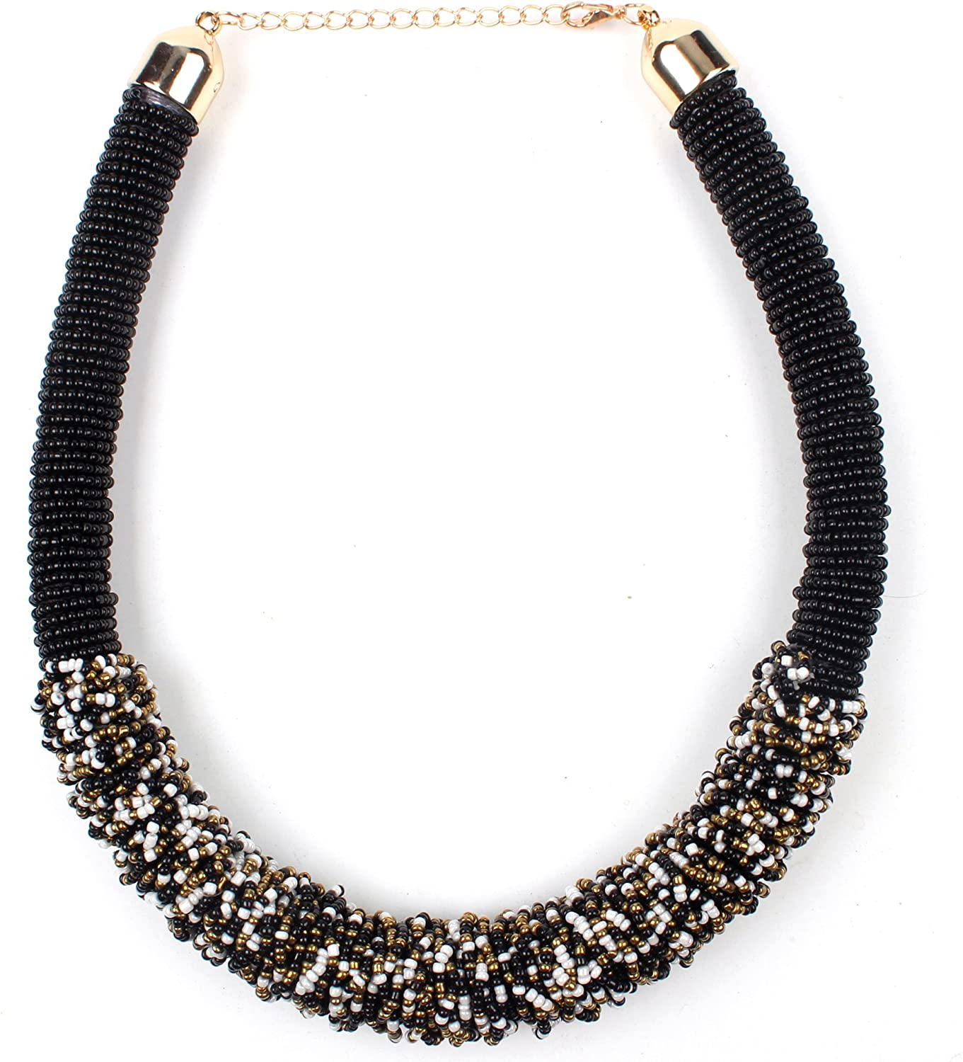 Handmade Beaded Multi Strand Necklace for Women /& Girls Alloy Necklace.RELIABLE