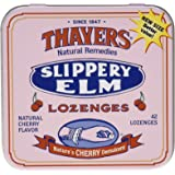 Thayers Slippery Elm Lozenges, Cherry, 42 Count