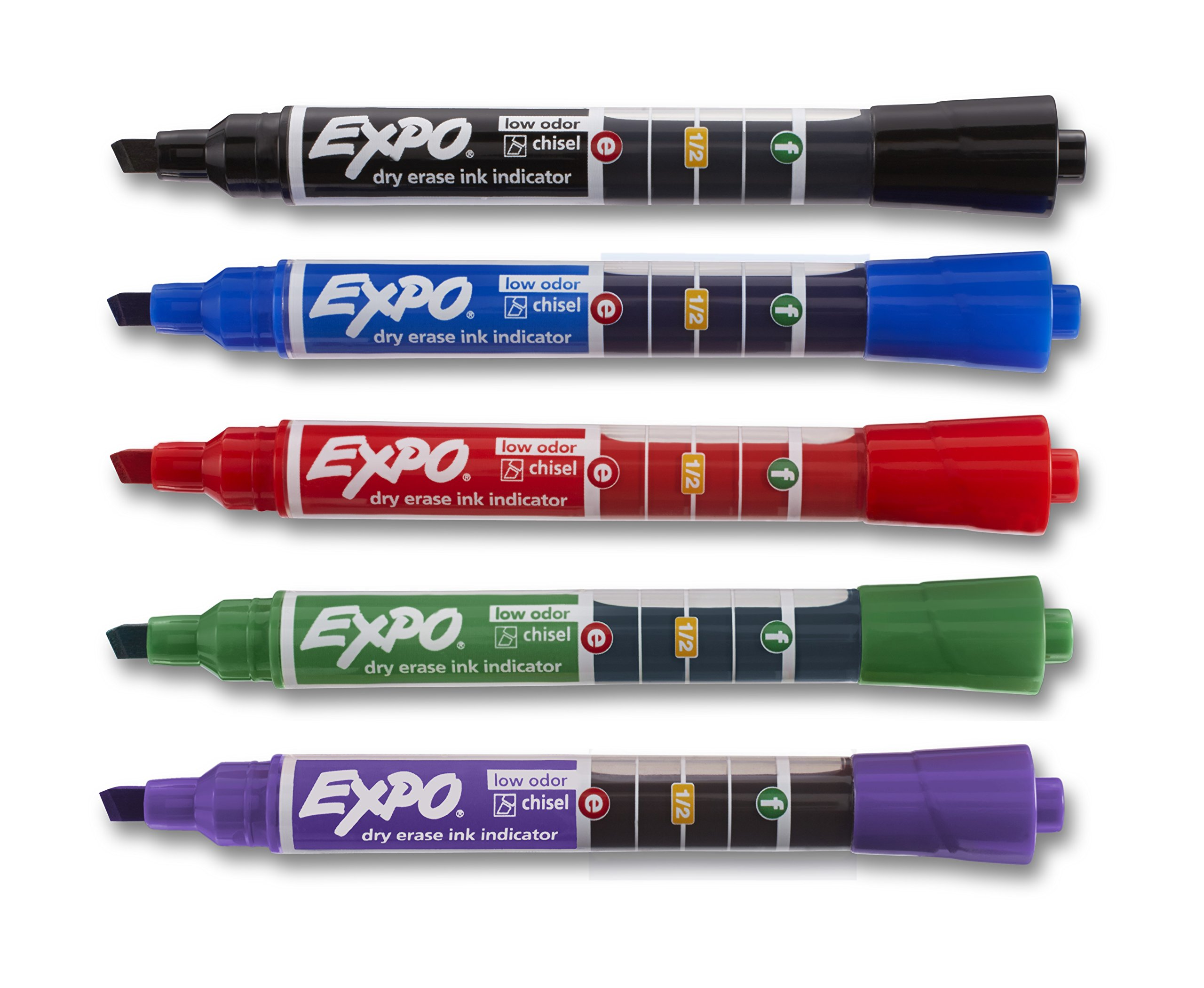 EXPO Dry Erase Markers with Ink Indicator, Chisel Tip, Assorted Colors, Box of 24 by Expo (Image #4)