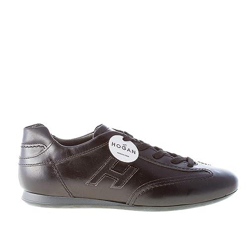 Hogan Donna Olympia Sneaker in Pelle Nero  Amazon.it  Scarpe e borse 329ee7ddff7