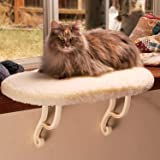 K&H Pet Products Kitty Sill Cat Window Hammock Perch (Heated or Unheated) Unheated Soft Fleece 14 X 24 Inches