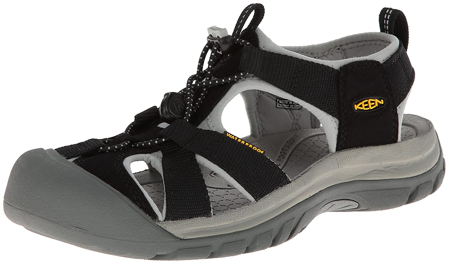 KEEN Women's Venice H2 Sandal B00HGAG6KK 6.5 B(M) US|Black/Neutral Gray