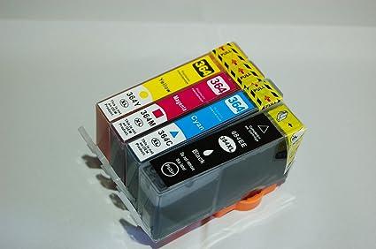 Pack 4 cartuchos de tinta compatibles 364 para HP: Amazon.es: Oficina y papelería