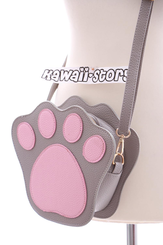 LB-47-2 Katzenpfote Bear Cat Paw grau Lolita Bag Harajuku Umhänge Tasche Japan