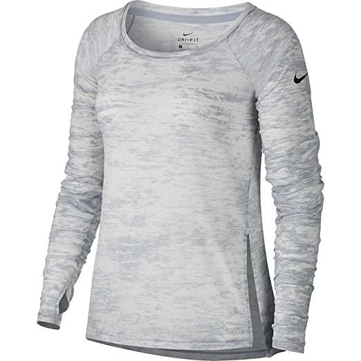 Amazon.com  Nike Breathe Training Top Womens Shirt Size Medium Fitness Workout  Wolf Grey Black  Sports   Outdoors d982ebf4172