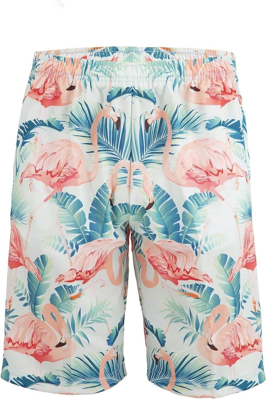 Knee Length with Deep Pockets Tropical Flamingo Lacrosse Shorts
