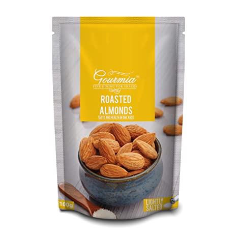Gourmia Roasted Almonds, Lightly Salted, 100g