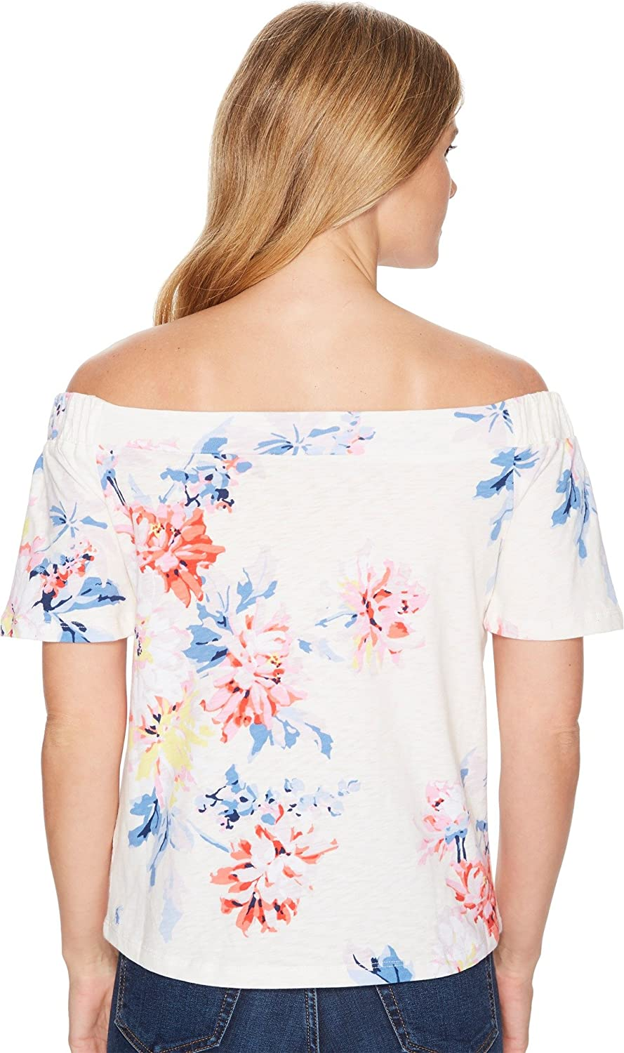 4a5570628c9 Joules Women's Oona Jersey Bardot Top Cream WHITSTABLE Floral 2 at Amazon  Women's Clothing store: