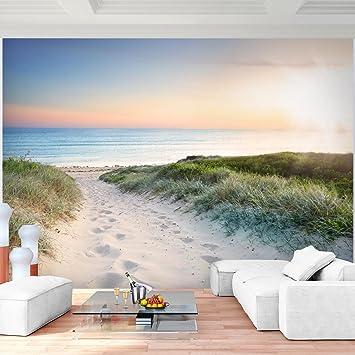 Fototapete Strand Meer 352 x 250 cm Vlies Wand Tapete Wohnzimmer ...