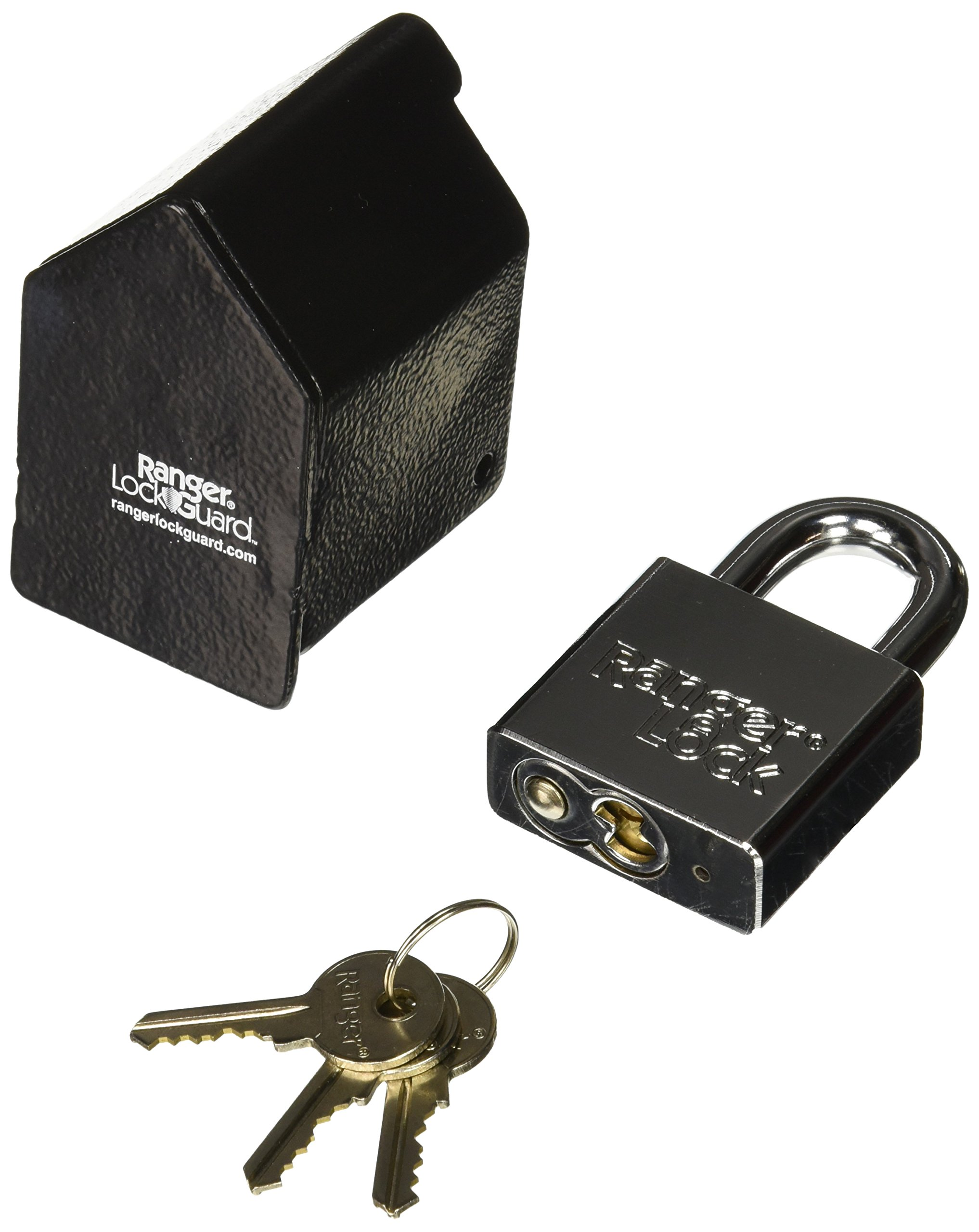 Ranger Lock RGST-1L Standard Lock Guard with 1-Inch Hardened Steel Lock