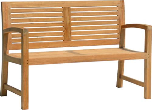 AquaTeak 5' Aqua Horizon Solid Teak Outdoor Bench