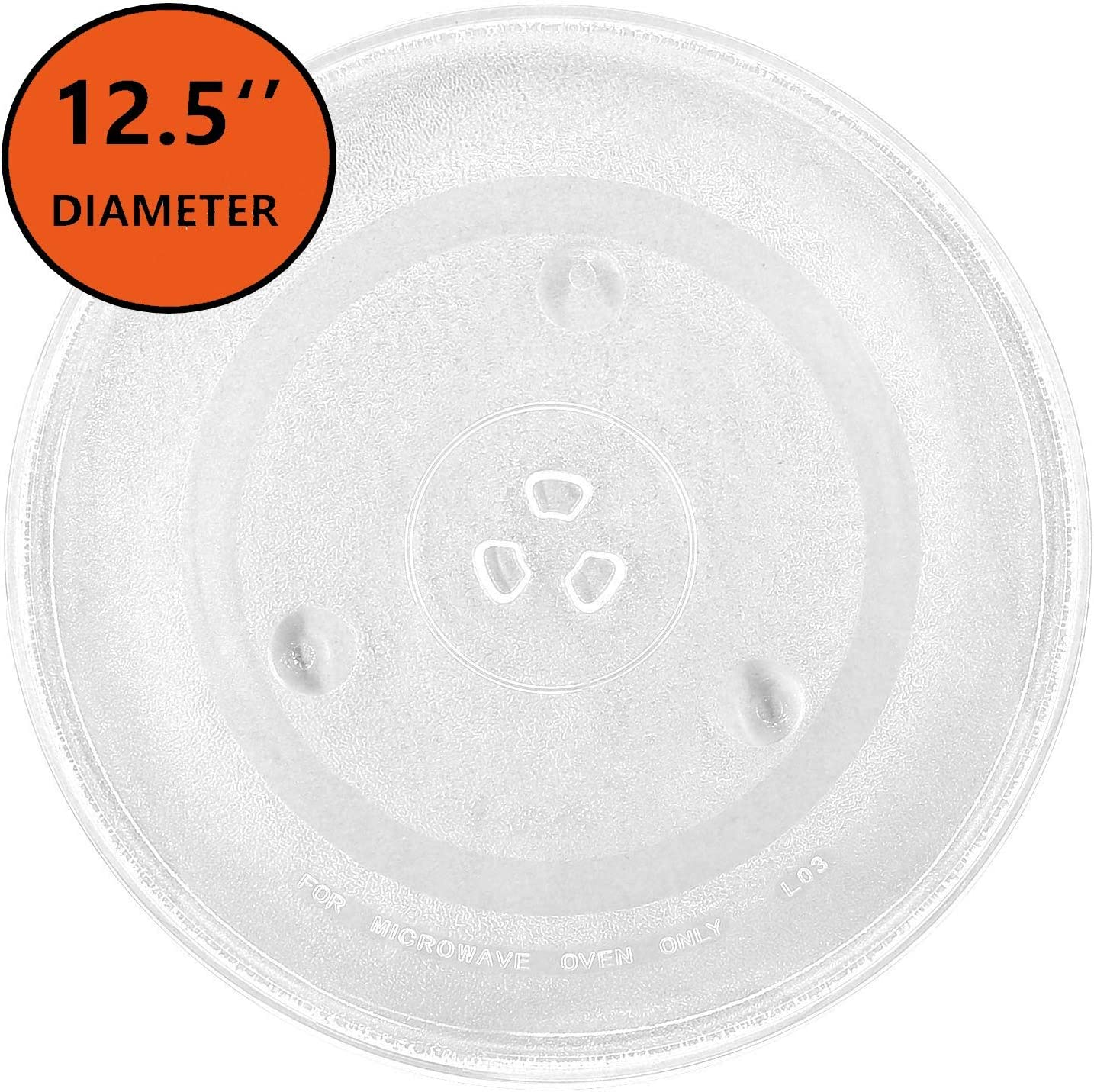 KONIBN Microwave Plate Replacement 12.5inch Microwave Glass Plate/Microwave Glass Turntable Plate Replacement, Compatible with GE and Samsung