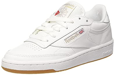Reebok Damen Club C 85 Fitnessschuhe, Elfenbein (White Light Grey), 35.5 b60210215a