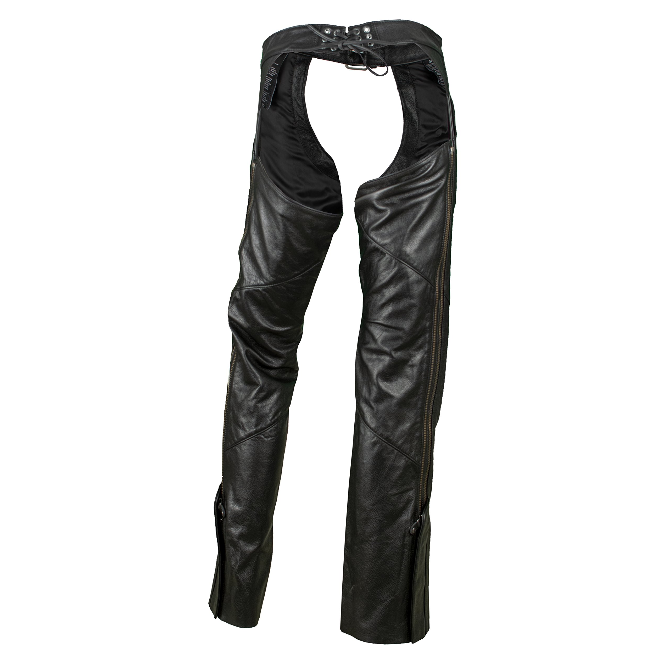 Harley-Davidson Women's Deluxe Leather Motorcycle Chaps 98097-06VW (Small) by Harley-Davidson (Image #2)