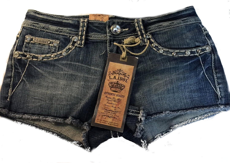 LA Idol Classic White Mini Denim Shorts S-L