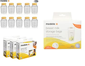 Amazon.com : Medela 150 Ml Storage Bottle Case of 10 Bundled ...