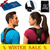 StraightUpMed Shoulder Posture Corrector for Women & Men - Adjustable Back Posture Brace for Women | Thoracic Back Support to Prevent Slouching and Pain | Back Posture Corrector and Shoulder Brace