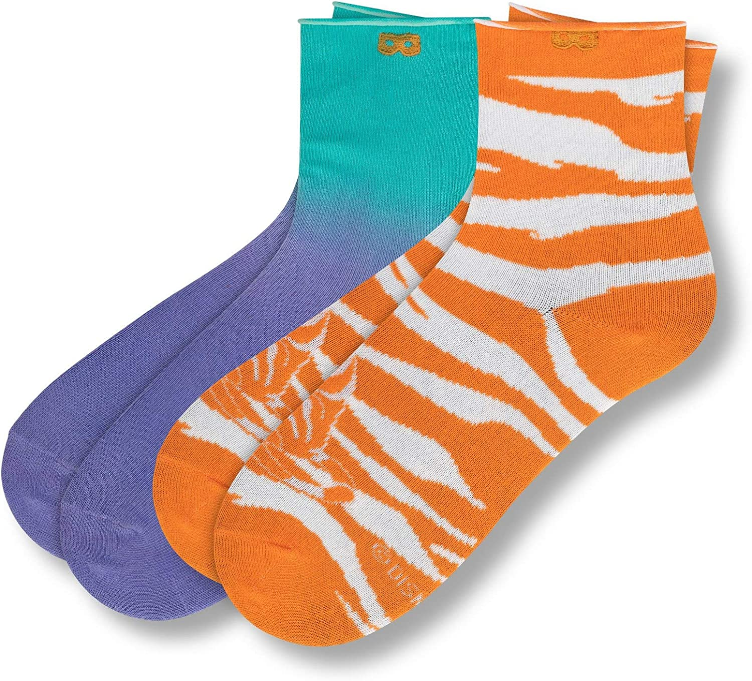 Pair of Thieves Women's x Disney Aladdin 2 Pack Ankle Socks, Whole New World (Orange), One Size