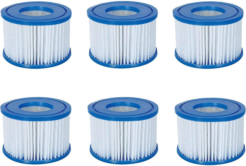 Bestway Coleman Spa Filter Pump Replacement Cartridge Type VI 90352 – 6 Pack
