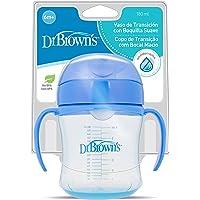 Dr. Brown's TC61001SPX - Vaso de transición de boquilla suave, Colores surtidos, 180 ml