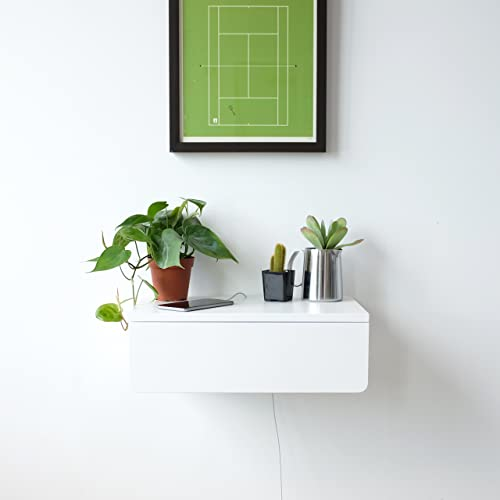 Floating Nightstand With White Drawer | Buoy | Wall Mounted Bedside Table  And Nightstand