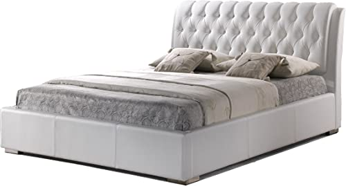 Baxton Studio Bianca White Modern Bed