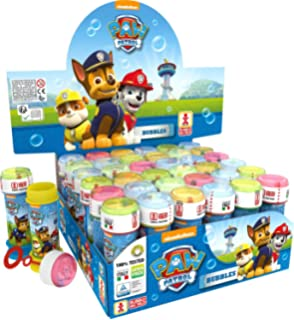 44th street 24 personalised paw patrol do it yourself cellophane box of 36 or 6 bubble pots boys girls blue paw patrol cartoon bubbles party solutioingenieria Choice Image