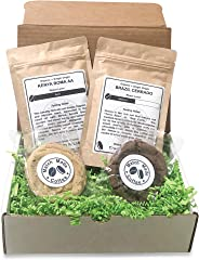 Match Made Coffee - Craft Coffee & Gourmet Cookie Subscription Box – 2 New Organic Ground Coffees and 2 Fl