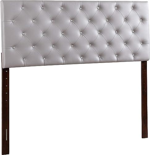 Glory Furniture Headboard, Queen, Light Gray