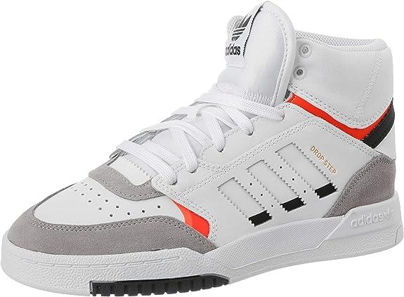 adidas Drop Step J, Zapatillas de Running Unisex Adulto, Multicolor (FTWR White/Light Granite/Solar Red Ee8755), 38 EU: Amazon.es: Zapatos y complementos