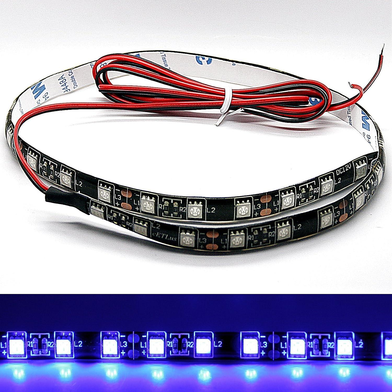 /(14, 98/€ //m/) LED Stripe - blau 30 cm // 50 cm SMD selbstklebend 12V 3M Streifen Innenraumbeleuchtung Innenraum /(1x 50cm blau/) LED-Mafia