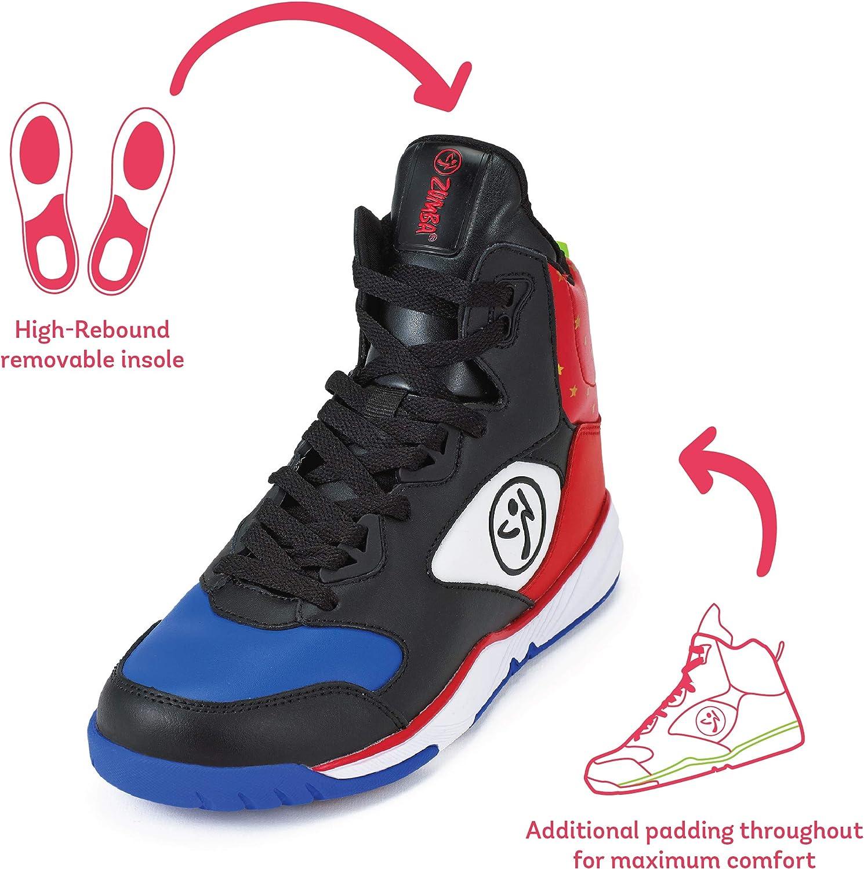 Zumba Aktiv Energy Boom High Top Sneakers Tanztraining Workout Tanzschuhe Damen Red