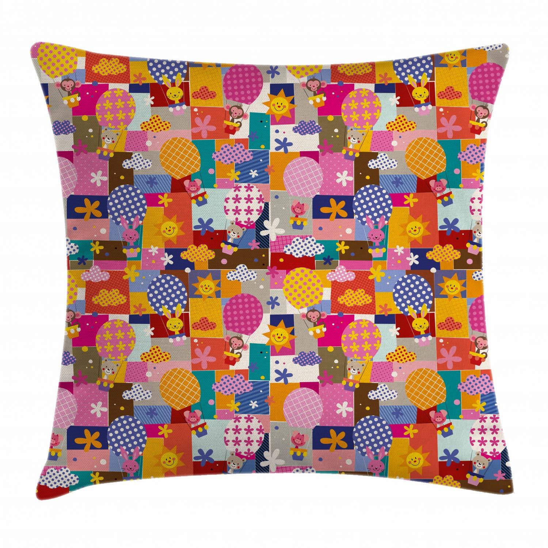 Amazon.com: Kids Throw Pillow Cojín Cubierta por ambesonne ...