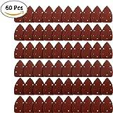 Carta Abrasiva Triangolare con velcro 60 pezzi Carta Vetrata Diverse Grana 40/ 60/ 80/ 120/ 180/ 240 Fogli Abrasivo Triangoli con 5 fori per DIY per levigatrice orbitale