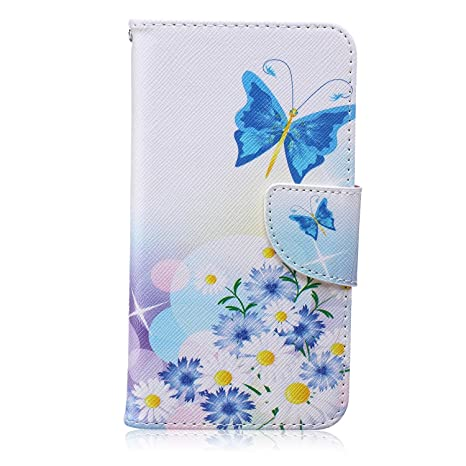 CaseHome Compatible For Samsung Galaxy J5 2015 Wallet Funda,Carcasa PU Leather Cuero Suave con Flip Case Billetera con Tapa Libro Tarjetas - Mariposa ...