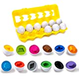 Color & Shapes Matching Egg Toy - Shape Sorting & Color Recognition Learning Toy for Toddlers - Preschool Game - Montessori E