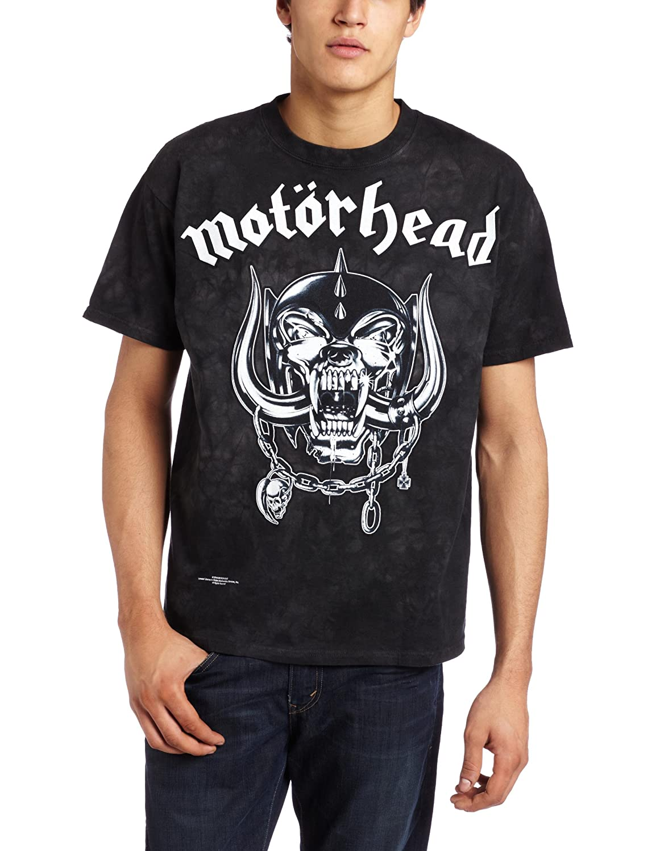 Liquid Blue mens Motorhead Tie Dye T-shirt Liquid Blue Apparel 11603-Gray-XX-Large