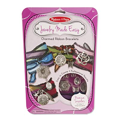 Melissa & Doug Jewelry Made Easy Charmed Ribbon Bracelet-Making Set (Makes 4 Bracelets, Great Gift for Girls and Boys - Best for 8, 9, 10, 11, 12 Year Olds and Up): Melissa & Doug: Toys & Games [5Bkhe1200782]