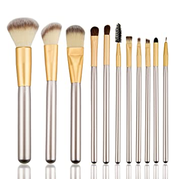 Amazon.com: SVKDR Makeup Brush Set 11pcs Premium Kabuki Synthetic ...