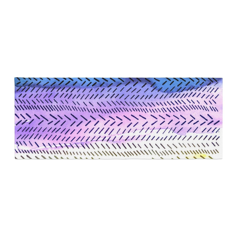 Kess InHouse Sreetama Ray Aqua Cool Paint Bed Runner