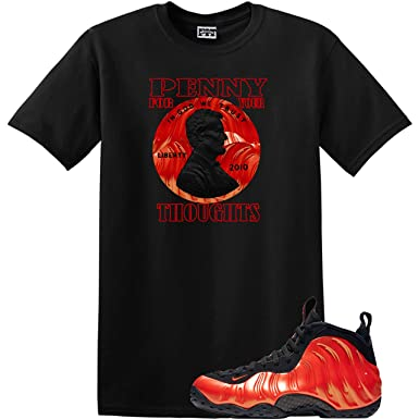 official photos 3682b 50acc We WIll Fit Shirt to Match The Nike Foamposite ONE Habanero RED (3Xlarge)