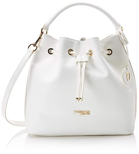 231e80460e Trussardi Jeans T-easy Light Bucket Borsa a secchiello Donna, Bianco  (Off/White) 30x31x15 cm (W x H x L): Amazon.it: Scarpe e borse