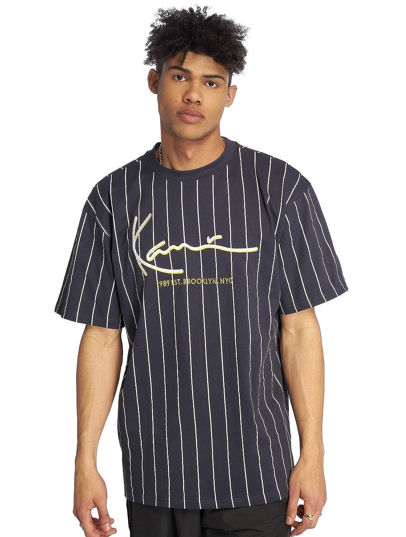 Karl Kani Hombres Camisetas Signature Pinstripe