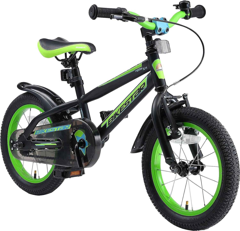 BIKESTAR Bicicleta Infantil para niños y niñas a Partir de 4 años | Bici de montaña 14 Pulgadas con Frenos | 14