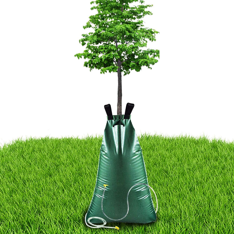 riego autom/ático por gotas bolsa de riego para plantas y jardines de jard/ín saco de /árbol plegable sistema de riego riego Qsnn Riego de /árboles PVC bolsa de agua de 75 litros de alta capacidad
