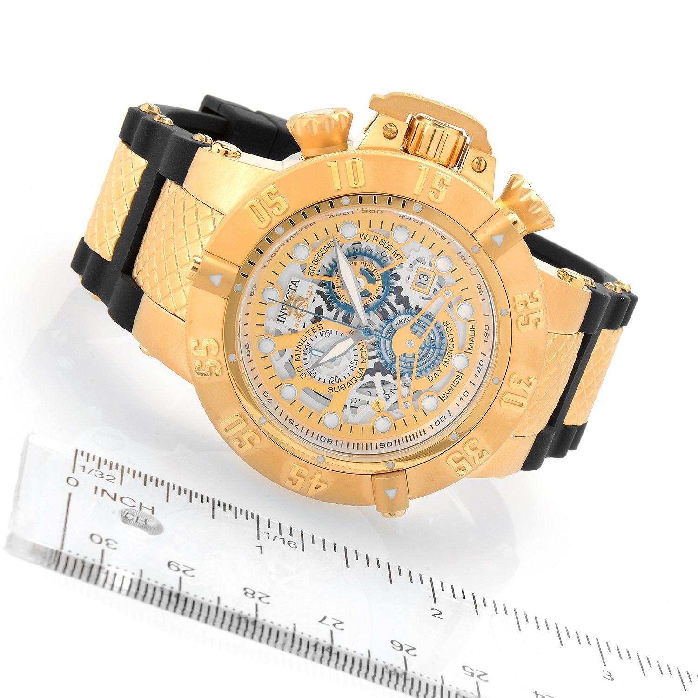Amazon.com: Invicta Mens Subaqua Swiss Quartz Stainless Steel and Silicone Watch, Color:Black (Model: 18528): Invicta: Watches