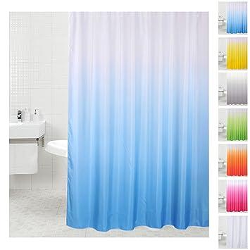 viele einfarbige zur Auswahl Anti-Schimmel-Effekt Sanilo D032599 Duschvorhang Stoff 180 x 180 cm blau
