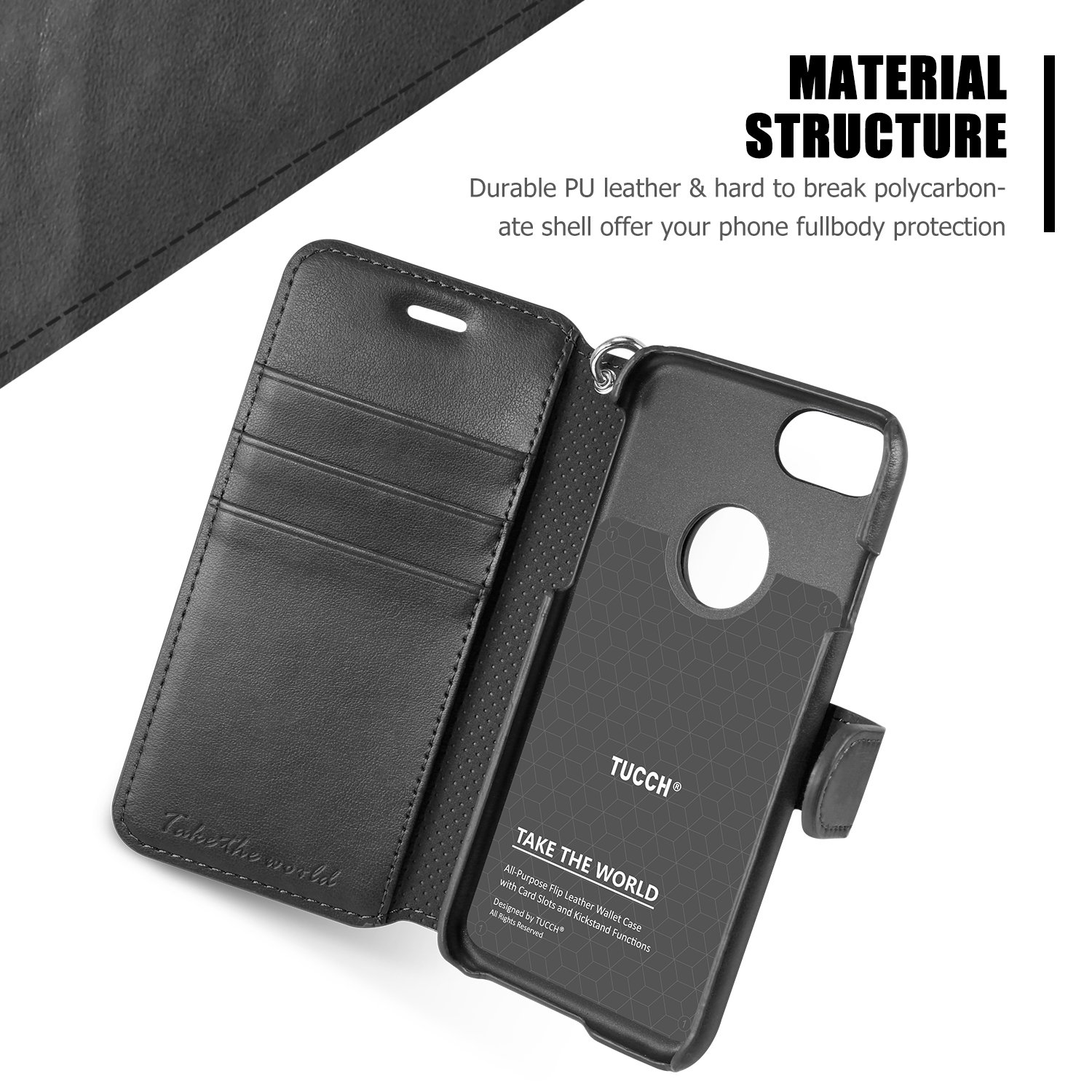 Self-Conscious Artificial Leather Case For Apple Iphone X Xs Flip-case Black Case